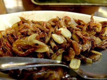 fried shrimp.